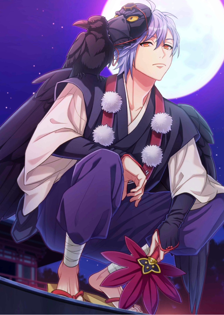 File:(Moonlit Karasu-Tengu) Misumi Serious SSR+ Raw.png - A3! Wiki